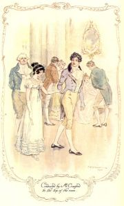 Mansfield Park. Illustration by C. E. Brock.