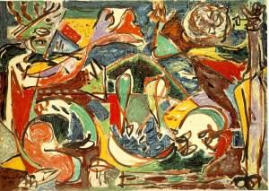 """Key"" by Jackson Pollock"