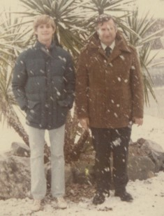 My husband and his dad, 1979