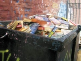 books- in-dumpster
